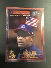 2002 Topps #362 Sammy Sosa Chicago Cubs!! UNITED WE STAND USA MUST SEE!! RARE