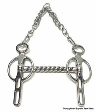"""D. A. Brand 4.5"""" Stainless Steel 2 Slot Straight Mouth Liverpool Bit Horse Tack"""