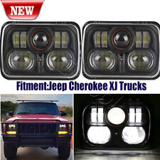 "2PC 5x7"" 5inch x 7inch LED Headlight Replacement for Jeep Cherokee XJ Trucks"