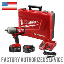 "MILWAUKEE 2763-22 M18 Fuel 1/2"" High Torque Impact Wrench with 5.0 AMP HR BATTS!"