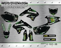 Kawasaki KLX 450 2008 up to 2016 graphics decals kit Moto StyleMX