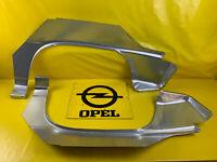 NEU Satz Reparaturblech Radlauf Opel Kadett E GSi Radlaufblech + Endspitze Blech
