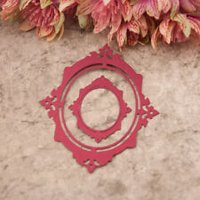 Metal Oval photo frame Cutting Dies Stencil DIY Scrapbooking Album Paper Card