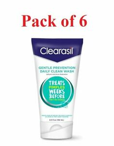 Clearasil Gentle Prevention Daily Clean Acne Face Wash 6.5 oz (Pack of 6)