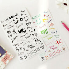 8 sheets letter word diary books Scrapbooking Crafts deco PVC Craft stickers LAU