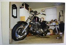 Vintage PHOTO Of A Custom Harley Davidson Motorcycle Leaking Oil On The Carpets