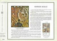 FEUILLET CEF 1er JOUR FRANCE GEORGES SEURAT 1969