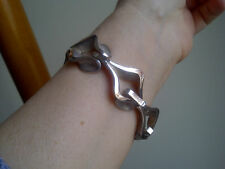 Taxco Mexico 925 Sterling Silver BRACELET Heavy Chunky Open Link Signed GIFT!