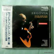 Segovia NEW Japan CD Music for Lute/Harpsichord Frescobaldi Weiss Baroque Guitar