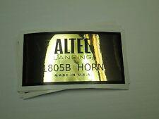 """ALTEC 1805B or 1003B Horn Loudspeaker Driver  """"DECAL"""" New!"""