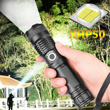 90000Lumen XHP50 LED 18650 Flashlight USB Rechargeable Zoomable Torch Lamp Light