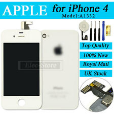 White Screen For iPhone 4 Touch LCD & Digitizer Replacement+Cover+Home Button