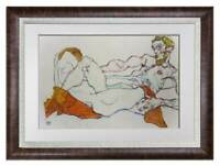 "Egon SCHIELE Lithograph Limited Ed. - ""Lovers Embracing"" ~SIGN w/Frame"