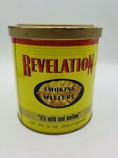 Vintage Revelation Tobacco 12 oz Tin with lid Phillip Morris