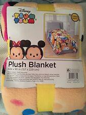 "Disney Tsum Tsum Plush Twin Sized Blanket (62"" x 90"") -- NEW!!"