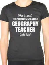 WORLDS GREATEST GEOGRAPHY TEACHER - Education / Novelty Themed Women's T-Shirt