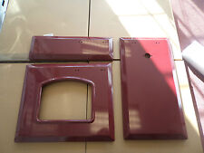 3X NEW CRANBERRY/RED DOOR SKINS FOR RANGEMASTER transform your dreary colour!
