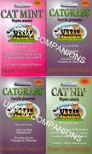 2 x CAT GRASS, 1 x CAT NIP, 1 x CAT MINT SEED PACKETS!!  URBAN COMPANIONS