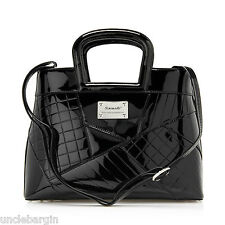 Serenad Geometric Collage Print Leather Handbag (SH17-7031)