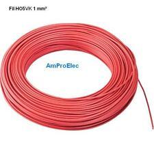 Fil électrique souple HO5-VK 1 mm²  2 et  5 mètres 11 Couleurs différentes