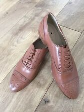 J Crew Wing Tip Oxfords in Nutmeg Size 7 Style# A5094 $258