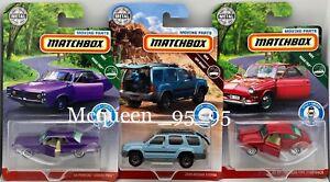 MATCH BOX 2019 MOVING PARTS MBX OFF-ROAD SET OF 3 CAR NISSAN VW PONTIAC