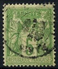 FRANCE 1898-1900 SG#283, 5 C VERT-JAUNE TYPE II utilisé #D50818