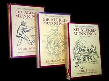 SIGNED Autobiography of Alfred Munnings; Artists Life, Second Burst, Finish Line