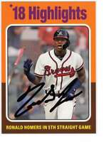 Ronald Acuna Jr. 2019 Topps Archives 5x7 #320 /49 Braves