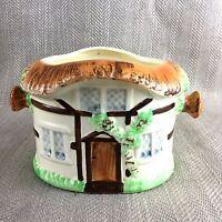 Vintage Mano Dipinto Cottage Burlington Ware Ceramiche Ciotola Pentola Barattolo