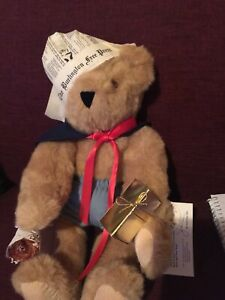 """Authentic Vermont 18"""" Teddy Bear Plush Stuffed Jointed With Tags"""