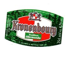 France - Beer Label - Brasseries Kronenbourg, Strasbourg - Tradition Allemande