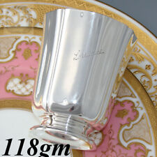 """Elegant Antique French Sterling Silver Wine, Mint Julep Cup, Tumbler """"Lorraine"""""""