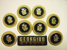 """8 VTG GEORGIOU STUDIO 1"""" enameled metal replacement buttons,good cond, $39.95"""