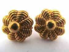 CHIMENTO 18k YELLOW GOLD EARRINGS   VINTAGE CLASSIC BUTTONS  5.1 GR