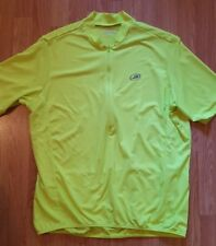 Performance Men's Yellow Cycling Shirt With Pockets Across The Back - Size 2Xl