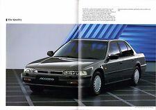 Honda Accord Saloon 1991-92 UK Market Sales Brochure 2.0 2.0i 2.2i