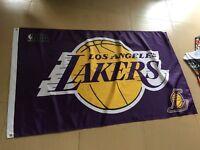 Los Angeles Lakers 3x5 Banner Flag Purple Basketball NBA Grommets Lebron Kobe