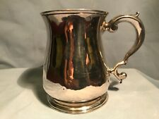 ANTIQUE ENGLISH STERLING HALF PINT MUG  LONDON 1737 George II