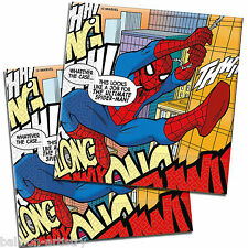 20 Ultimate Spider-Man Fumetti Arte party monouso 33 cm Carta Tovaglioli