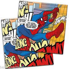 20 Ultimate Spider-Man Fumetti Arte party monouso 33 cm Carta Tovaglioli