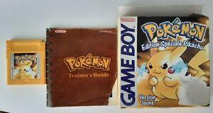 Pokémon Version Jaune - Edition Spéciale Pikachu (Game Boy Color) - Complet