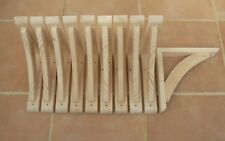 "Wooden Shelf Brackets x 10 (Ideal for 10"" - 11.5"" Shelves)"
