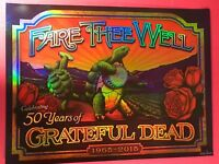 FARE THEE WELL GRATEFUL DEAD CHICAGO SOLDIER FIELD POSTER CARROLL FRUIT CRATE