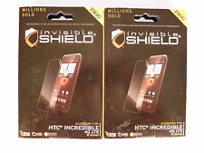 (2) Zagg Invisible Shield Cell Phone Screen Protectors for HTC Incredible 4G LTE