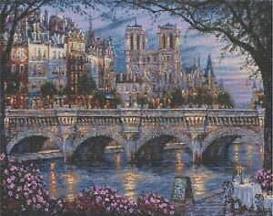 EVENING BY THE RIVER - COUNTED CROSS STITCH CHART