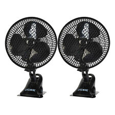 Oscillating Clip On Air Cooling Fan x2 Kitchens Bathrooms Bedrooms Offices