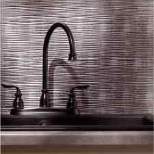 Kitchen Backsplash Silver Decorative Vinyl Panel Wall Tiles Bathroom Industrial
