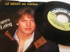 """JEAN JACQUES LAFON 45 """" Le Géant De Papier """" MELON-MIEL Canada 1985'"""