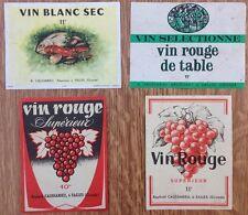 4 étiquettes de vin Caussarieu à Salles Gironde 33